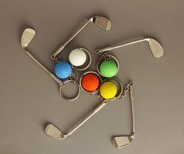 Wholesale Digital Golf Finder - New Car Styling Golf Ball Key Chains Creative Gifts Metal Key Holde Car Key Rings AA176