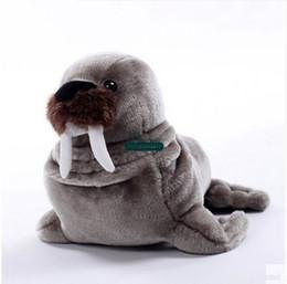 Wholesale Plush Sea - Dorimytrader 35cm New Funny Simulated Animal Sea Lions Plush Doll Lovely Soft Cartoon Sea Seal Stuffed Toy Baby Present DY60684