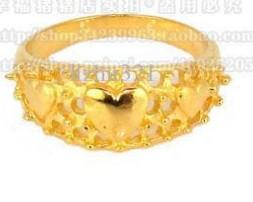 Wholesale Natural Diamond Rings Solid Gold - 14K SOLID YELLOW GOLD NATURAL RING