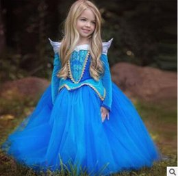 Wholesale Dress Sashes Diamonds - Princess Halloween Party Evening Costume Soft Tulle Retro Children Cosplay Dress Party Girl Princess Lace Diamond Dresses Kids Girls Dresses
