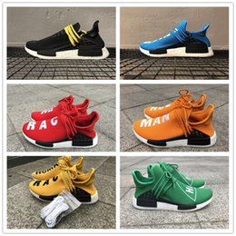 Wholesale With Original Box Real Carbon Fiber NMD Pharrell Williams Human Race Boost Humanrace NMD Fashion Casual Running Shoes Size
