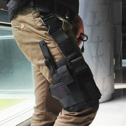 Wholesale Puttee Pistol Holster - 600D Polyester Wrap-around Tactical Puttee Thigh Leg Pistol Gun Holster Pouch