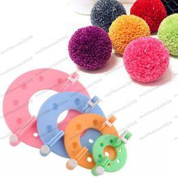Wholesale Needle Maker - NEW ( 4 Sizes set ) Pom Maker Fluff Ball Weaver Needle Knitting Wool Tool Yarn Kit Free Shipping MYY