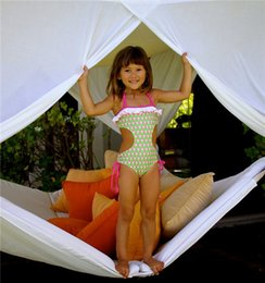 Wholesale Tankini 5t - Eastlion Style baby Bikini Set Hanging Neck Swimsuit Girl One Piece Tankini Swimsuits Conjoined infantial Skirt Beach toddlers Costumes
