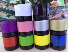 Wholesale Mini Speaker Ipad Pc - Colorful S10 Wireless Bluetooth Speaker Mini Stereo Speaker with TF Card Slot for iPhone iPad Android Cellphone Tablet PC Mp3