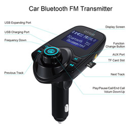 Wholesale Usb Port Cards - 2017 T11 Bluetooth Hands-free Car Kit With USB Port Charger And FM Transmitter Support TF Card MP3 Music Player