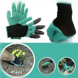 Wasserdichte gartenhandschuhe online-Garten-Genie-Handschuhe mit Fingerspitzen-Klauen Grün graben und pflanzensicheres Beschneiden wasserdichte Gartenhandschuhe Grabenhandschuhe IA534