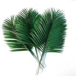Wholesale long branches - Artificial green plants Decorative Flowers Butterfly Palm Areca palm leaves   wedding decoration  35 cm long 28 cm wide