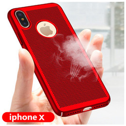 Wholesale apple iphone net - Phone Case Heat Dissipation Mesh Net Phone Cover Grid Hollow Out Dot Back Cover for iPhone8 Plus 7plus 6s plus