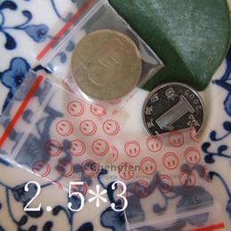 "Wholesale Grip Seal Bags - Wholesale printing Smile Grip Seal Bags 1""x1.2"" 8mil Mini Poly Plastic Clear Zip Lock Bags 500pcs 2.5x3cm Tiny Reclosable Baggies"