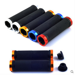 Wholesale Grip Handles - Bicycle Handlebar Grips Cover Lock On Non Slip Rubber Bike Handle Bar MTB Bike Grips Fixed Gear Bike Accessories
