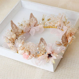 Wholesale Life Hair - 2017 wholesale jewelry elegant bride headdress flower sweet life crown hair shell shape accessories free shipping