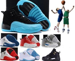 Wholesale Gs For Sale - Sneakers kids shoes Girls Boys Hyper Violet 12s Wolf Grey Blue hot new 12 XII OVO Black White Cherry GS Sports trainers for sale