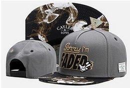Wholesale Faded Snapback - Cayler & Sons sorry i'm FADED caps 2017 New Fashion Cayler Sons Men Snapback Hats Women Ball Caps Top Quality