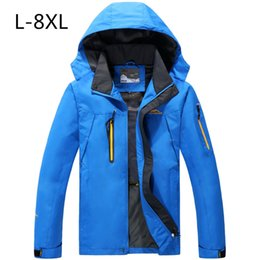 Wholesale Thin Overalls - Wholesale- Autumn Jacket man Warm Plus size8XL CoatSingle layer thin section dust coat mountaineering wear overalls free delivery 8XL 7XL