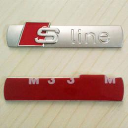 Wholesale Audi A3 Stickers - OTOKIT 3D Metal Car S line Sticker Cover for Audi Sline Logo A3 A4 A5 A6 Q3 Q5 Q7 B7 B8 C5
