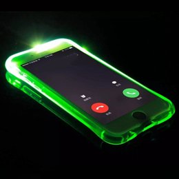 Wholesale Silicone Flashing Led - Call Lightning Flash LED Light Up Soft TPU Ultra Thin Clear Shockproof Cover Transparent Silicone Clear Galaxy S8 S8 PlusFor iPhone 7 Case