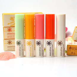 Wholesale Smooth Balm - Innisfree Canola Honey Lip Balm Tinted Pink Tinted Coral Deep Moisture Smooth Care Korea Brand 5 Colors