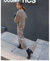 Wholesale Loose Neck Turtleneck - special offer every day half loose turtleneck sweater suit nine Winter Knit wide leg pants suit female