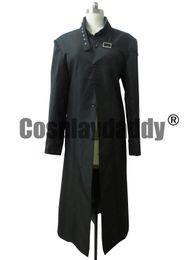 Темный черный косплей онлайн-Темнее, Чем Черный Хей Длинное Пальто Косплей Костюм