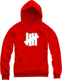 Wholesale New Sport Hoodies - Wholesale-Undefeated Hoodies New Hip Hop Brand Undefeated Men Women Cotton Sports Sweatshirts Four Bars 8 Colors Undefeated Jacket
