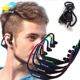 Wholesale S9 Bluetooth Earphone - S9 Stereo Bluetooth earphone Sports headphone Wireless ear hook Headband In Ear Earphone Hifi Music Player For iPhone6 Plus Samsung