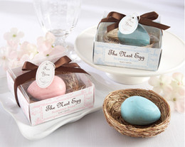 Wholesale Small Housed - Wedding Favors Nest Egg Soap Gift box cheap Practical Unique Wedding Bath & Soaps Small Favors 20pcs lot new