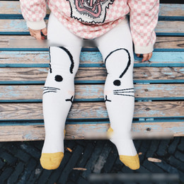 Wholesale Tight Clothed Dancing - Cute Rabbit Girls Tights New 2017 Girl Leggings Tights Autumn Warm Dance Pure Cotton Cute Leg pants Clothing Pants Girl's Legging A6353