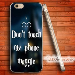 Wholesale Quote Iphone 4s Case - Coque Harry Potter Phone Quotes Soft Clear TPU Case for iPhone 6 6S 7 Plus 5S SE 5 5C 4S 4 Case Silicone Cover.