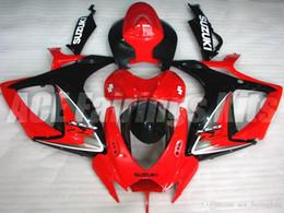 Wholesale Suzuki Gsxr Fairing K6 - Free gifts+Seat Cowl New bike Fairing Kits For SUZUKI GSXR 600 750 K6 06 07 GSXR-600 GSXR750 GSXR600 GSXR-750 2006 2007 white red black USA