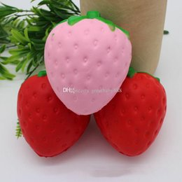 Wholesale 2017 new Strawberry PU toys cm Squishy fruit Slow rebound Stuffed Animals Squishy toys EMS C2165
