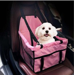 Wholesale Dog Booster - 40*30*25cm Waterproof pet bosster car seat for Dogs and Cats Portable Car Pet Booster Seat with Clip-On Safety Leash and Zipper Storage W129