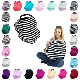 Wholesale Nursing Covers Wholesale - Multifunctional Nursing Cover 4in1 Multi-Use Stretchy Infinity Scarf Baby Car Seat Canopy Breastfeeding Shopping Cart High Chair Cover