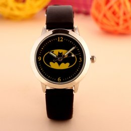 Wholesale Clock Boy - Batman Children Watch Fashion Quartz Waterproof Jelly Kids Clock boys girls Students Wristwatch