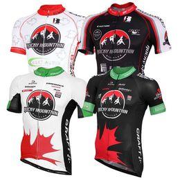Jersey de ciclismo manga corta negro online-2017 Summer Rocky Mountain Blanco Rojo Negro Pro Team Tops de ciclismo Manga Corta Jerseys de Ciclismo Camisa Transpirable de Secado rápido Bike Wear