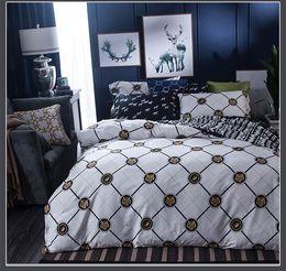 Wholesale King Size Tiger Comforter - European bedding set quilt duvet covers bed sheets bedspreads full queen size Adult bedroom decoration tigers horses white black