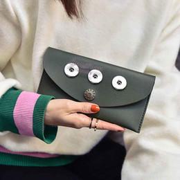 Wholesale Bags Buttons - Brand New 02 Bag Snap Button Purse Pu leather Wallet Bags Charms Bracelet Jewelry for women fit 18mm button 20cm*10cm *1cm