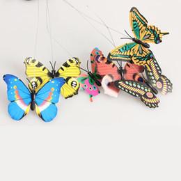 Wholesale Solar Fluttering Butterflies - Vibration Solar Power Dancing Flying Fluttering Butterflies Hummingbird Garden Decor
