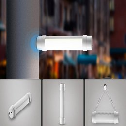 Wholesale Fluorescent Reading Light - Wholesale- Multifunction Portable and rechargeable LED Portable Light Outdoor Camping hiking fishing reading light Emergency Night Lamp