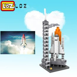 Wholesale Usa Presents - LOZ Space Shuttle mini diamond Building Blocks toys Famous Architecture Mini Bricks DIY Toys quiz Christmas Present Gift USA 0.6 710pcs 9384