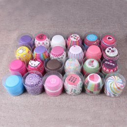 Wholesale Tart Cases - 100 pcs rainbow cupcake paper liners Muffin Cases Cup Cake Baking egg tarts tray kitchen accessories Pastry decorating Tools