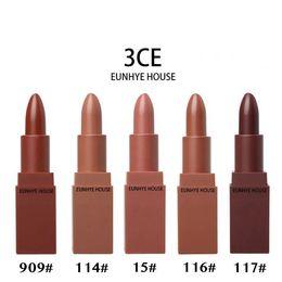 Wholesale 3ce Lipstick Korean - 3CE EUNHYE HOUSE Lip Stick 5 colors Moisturizer Matte Lipsticks Long-lasting Easy to Wear Korean Cosmetic Nude Makeup Lips Factory Outlet