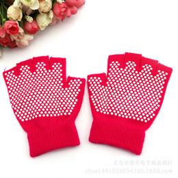 Wholesale women winter half glove - Glove Autumn And Winter Professional Sports Gloves Half Finger Five Toe Cotton Slip Free Yoga Mittens For Women New Arrival 3 5ed F