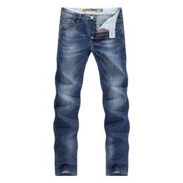 Wholesale Denim Business Casual - Men Jeans Business Casual Thin Summer Straight Slim Fit Blue Jeans Stretch Denim Pants Trousers Classic Cowboys Young Man