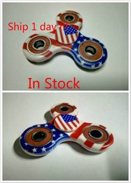 Wholesale American Kill - Stock Camo American Flag Hand Spinner Camouflage Spinner Toys EDC Fidget Spinner ToyF inger Toys for Kids Adult Killing Time By DHL