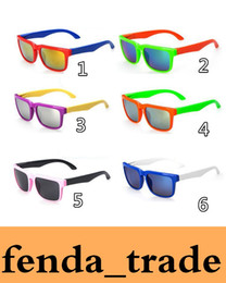 Wholesale Boy Children Sunglasses - 6 options Reflective Kids Sunglasses Brand Designer Sun Glasses for Children Boys Girls Fashion Eyewares Oval UV 400 Eyewares Gafas de Sol
