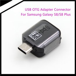 Wholesale Otg Cable Galaxy - 2017 Newest s8 Type-C to USB OTG Adapter Connector for Samsung Galaxy S8 S8 Plus