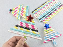 Wholesale Drinking Straws Dotted - 10000pcs Various Pattern Paper Straws in Polka Dot Stipe,Wave,Heart Colorful Drinking Paper Straw Party Decoration Kids DIY