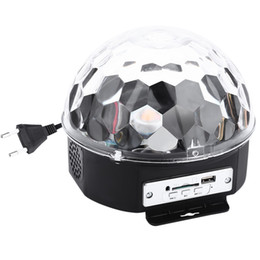 Wholesale Led Spot Club Lights - Wholesale- Mini LED Laser Projector MP3 DJ Club Disco Party Music Crystal Magic Ball Stage Effect RGB Xmas Spot Light With USB Disk+Remote