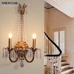 Modern Metal Crystal Wall Light Fixture Bedroom Lamp Sconces Kronleuchter  Crystal Lighting For Living Room Aisle Lamp Part 94